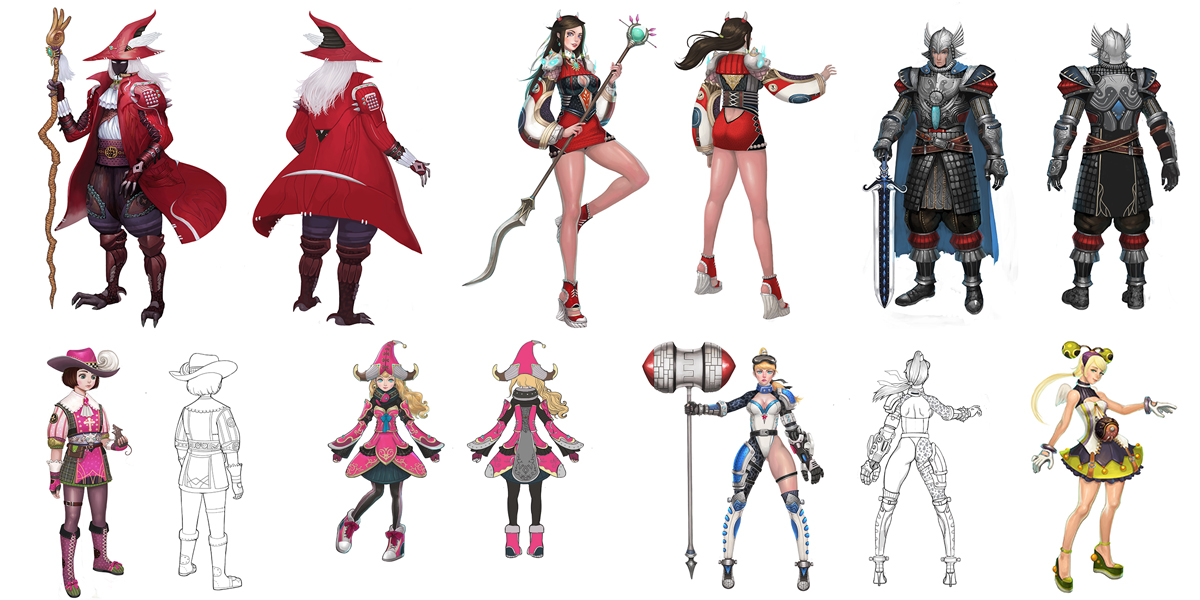 Game Character Design Website : Aika 게임 캐릭터 원화 studiodot
